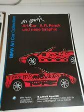 Plakat Art Car A. R. Penck BMW Pavillon München A1 Original TOP!