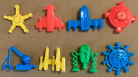 R&L CEREAL TOY BASED GUMBALL PRIZES -- SPACE EXPLORERS - UFOs - FULL SET,  LOT B
