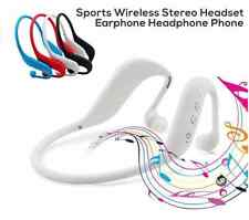 White 3 in 1 Bluetooth wireless sport headset support TF Card, MP3 and FM radio