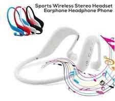 Blanco 3 en 1 Auricular Bluetooth Wireless Sport apoyo TF tarjeta, MP3 Y Radio Fm