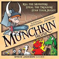 MUNCHKIN DELUXE CARD GAME - BACKSTAB & STEAL YOUR FRIENDS' STUFF - NEW GIFT