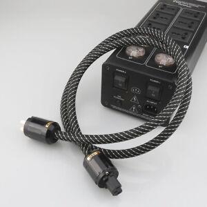 1/2/3/4m Hi-End Hifi Audio AC Power Cable Power Cord AU Plug Audio Cable Gift