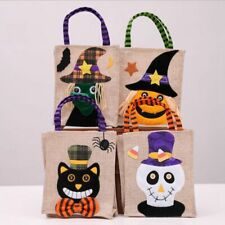 Halloween Tote Bag Candy Bag Children's Party Trick Or Treat Pumpkin Witch Ghost