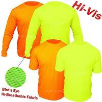 Hi Vis T Shirt Non ANSI Long Sleeve Safety High Visibility Yellow Orange Shirt