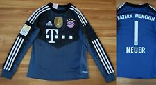 KIDS BOYS 9-10 YEARS 140 CM BAYERN MUNICH GOALKEEPER FOOTBALL SHIRT 2014-2015