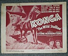 KONGA THE WILD STALLION orig 1939 movie poster HORSES/ROCHELLE HUDSON/FRED STONE