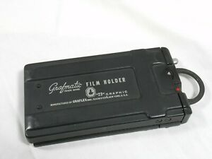 Graflex Grafmatic 23 Film Holder Back with 6 septums **** Tested and working ***