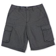 Oakley Wheelie Cargo Size 34 L Black Plaid Mens Shorts Casual Golf Walkshorts
