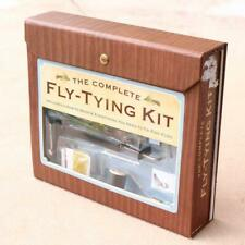Fly tying kit Gift Box Book Tutorial Starter Feathers Boxed Fly Reel Fishing FV