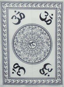 Bohemian 4 Corner Meditation Om Gypsy Wall Hanging Poster Tapestry Dorm Decor