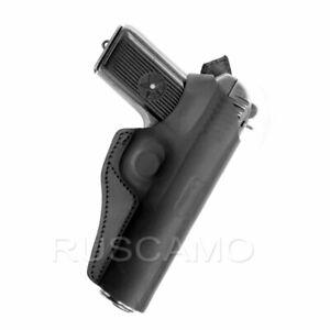 Belt Holster for Tokarev (TT), Zastava M57, Romanian TTC, leather, black