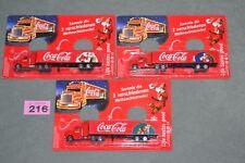 3x Coca Cola Coke Christmas Truck Lorry Holidays Father Xmas Santa Village Set