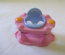 """FISHER PRICE Loving Family Dollhouse PINK EXERSAUCER for 2-3"""" Doll Spins Cute!"""