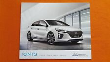 Hyundai IONIQ Hybrid SE Premium car sales brochure catalogue August 2016 MINT