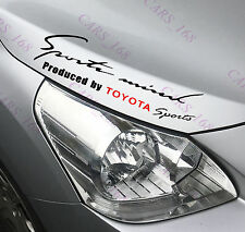 ☆New☆ Headlight Eyebrow Car Stickers Decals Graphics Vinyl For Toyota (Black)