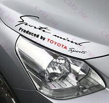 ☆ nuevo ☆ Faros De Cejas Automóvil Pegatinas Calcomanías de Vinilo de gráficos para Toyota (Negro)
