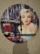 Retro Wall Clock, Marilyn Monroe, 30cm