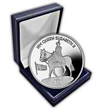 South Georgia 2016 90th Birthday Trooping the Colour Portrait CuNi Coin in a box