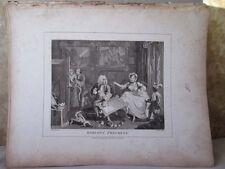 Vintage Print,HARLOTS PROGRESS,Plate 2,Hogarth,1807