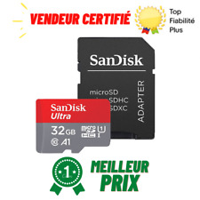 Carte Mémoire Micro SD SDHC SANDISK 64 32 16 GB Classe 10 Type U1 A1 98 MB/s