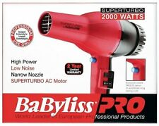 New BaBylissPRO Super Turbo Hair Dryer 2000 Watts AC Motor #BAB307