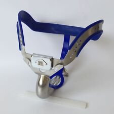 Full Male Chastity Belt Device Stainless Steel high hip blue new 2016 65-110cms