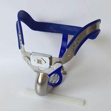 COMPLETO di Sesso Maschile Castità Cintura Dispositivo Acciaio Inox Alta Hip Blu Nuovo 2016 65-110cms