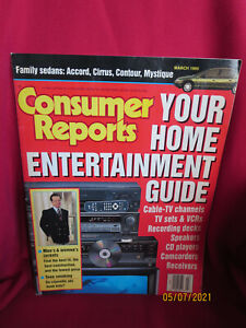 CONSUMERS REPORT MARCH 1995 MAGAZINE HOME ENTERTAINMENT GUIDE