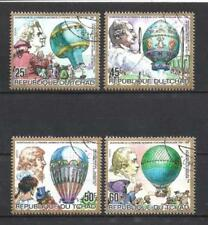 Ballons et Dirigeables Madagascar (1) série complète de 6 timbres oblitérés