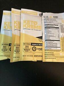 Pruvit Keto Kreme 4 Pack VANILLA BEAN- New Flavor!!! FREE SHIPPING