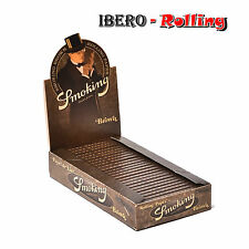 Papel fumar Smoking Marrón Caja de 25 libritos. 50 hojas librito. Smoking Brown