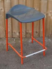 Retro Industrial Bar / Breakfast Stool with Red Metal Base 61cm High (Up to x7)