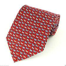 Tango Pastel Horses Men's Silk Neck Tie Animal Dress Fashion Red Necktie