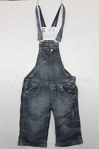 Salopette FISHBONE (Cod. S17) Tg.S jeans usato Short vintage Streetwear salopet