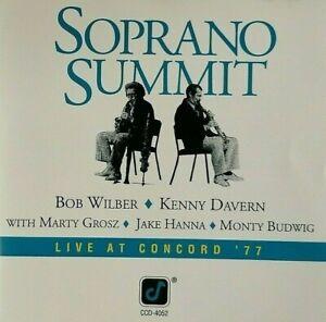 Soprano Summit Bob Wilber & Kenny Davern Live at Concord '77 *RARE CD* **NEW**