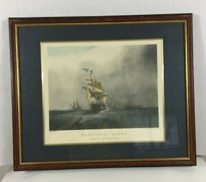 Vintage Wall Art Ship Liverpool Homeward Bound by S.Walters Engraved H. Pappril