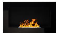 65 GEL- et cheminée à éthanol noir laqué Poêle cheminée à l'éthanol Bioéthanol