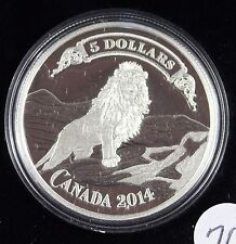 **2014**Lion on the Mountain, Proof Silver $5 Dollar Coin