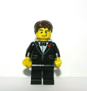 LEGO Groom Minifigure Figure Black Suit Bow Tie  Best Man Usher Wedding