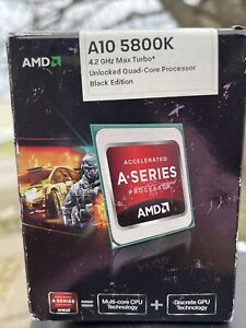 AMD A10-5800K 4.2GHz Max Turbo HD7660D Quad-Core Unlocked FM2 APU Sealed