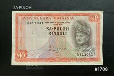 Malaysia - 1st $10 ( SA-PULOH  411041 ) |  VF