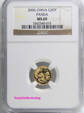 2006 1/20oz panda gold coin NGC MS69