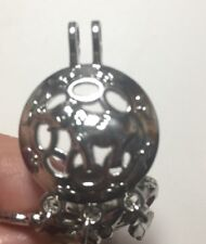New Silver Elephant Good Luck DreamCatcher Feathers Large Pearl Cage Pendant G