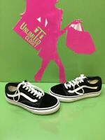 VANS Old Skool Black Canvas/Suede Lace Up Skate Shoes Men's Size 4  Women's 5.5