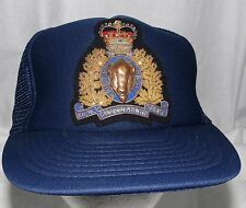 Vintage RCMP Royal Canadian Mounted Police Snapback Hat With Crown Brass Middle
