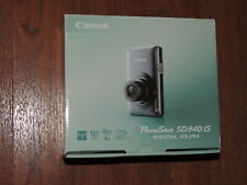 Open Box - Canon PowerShot SD940 IS 12.1 MP Camera - BLUE - 013803115017