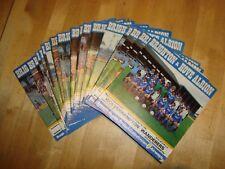 Set completo di Brighton & Hove Albion Casa 1980-81 programmi, 24 in tutte le