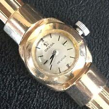 Designer Rare Mint Art deco 14k  Yellow gold Omega Ladies Watch