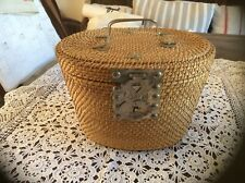 Vintage French Lidded Basket