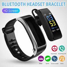2 in 1 Y3 Smart Watch Bracelet Bluetooth Headphone Headset Heart Rate Monitor UK